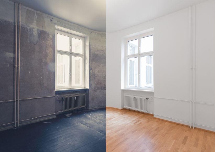 Home concept rénovation appartement à Divonne-les-bain avant et après