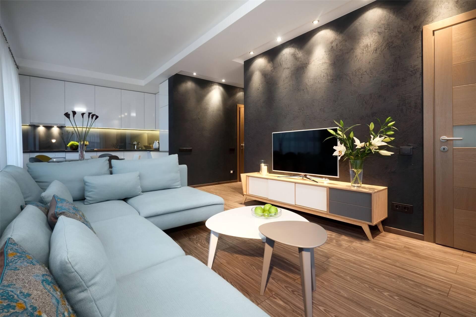 Rénovation salon et cuisine d'un appartement Divonne